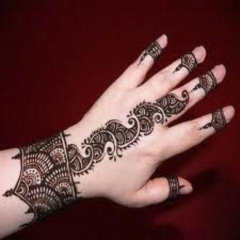 new summer eid mehndi design 2012