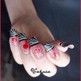 Latest Sakura Eid Nail Designs 2012 For Girls