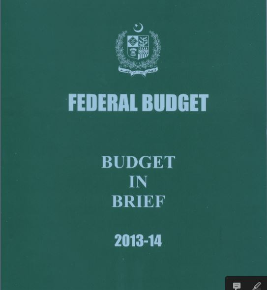 Pakistan Federal Budget 2013-14