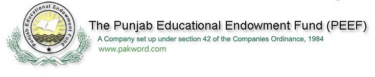 PEEF Students Scholarships 2013