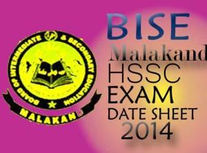 bise malakand Fa Fsc annual exam 2014 date sheet