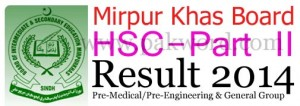 Mirpur Khas board HSC part 2 result 2014