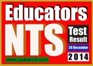 NTS Answer key 29 dec SESE test