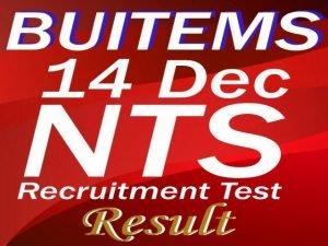 BUITEMS recruitment test 14 dec