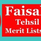 ESE district Fsd merit lists 2015