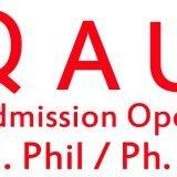 Admission open QAU Islamabad