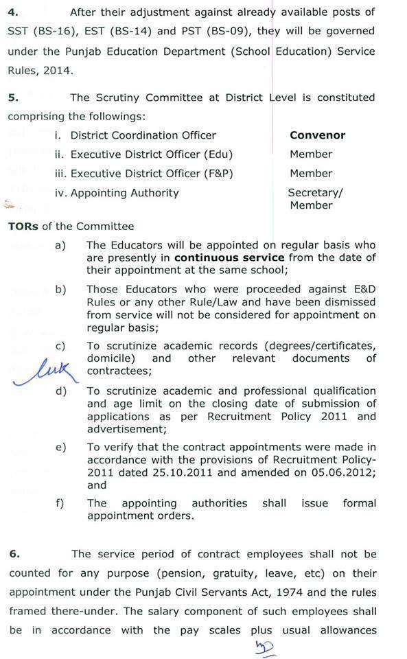 Punjab Govt regular orders 2015 1