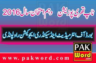 Rawalpindi Board Top Position Holders