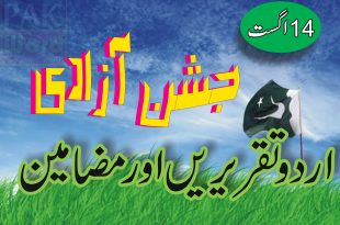 Essay writing 14th August in Urdu