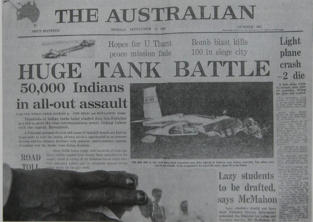 1965 war old newspaper