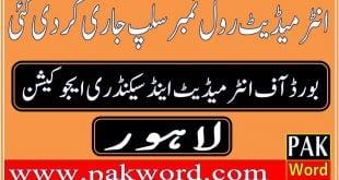 Lahore board hssc rol no slip