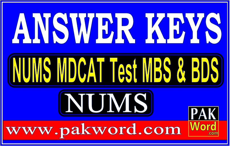 answer keys nums test