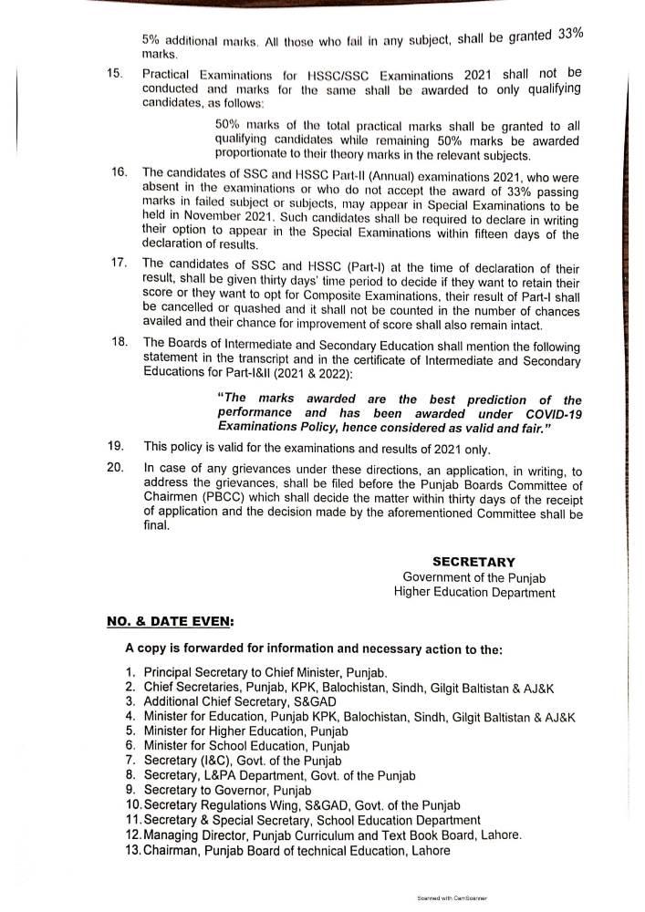 matric & fa fsc promotion policy